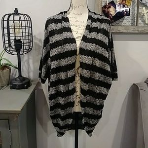 4for $15 high low open front striped cardigan